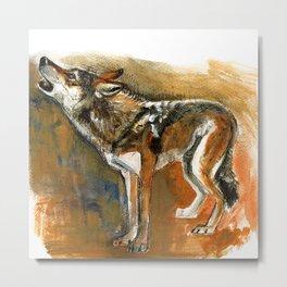 Totem arabian Desert Wolf Metal Print