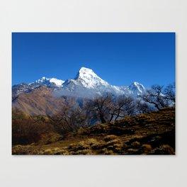 Panoramic View Of Annapurna Ghorepani Poon Hill Canvas Print