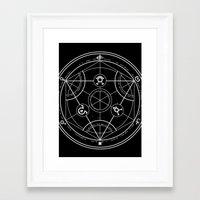 pentagram Framed Art Prints featuring Pentagram by Maioriz Home