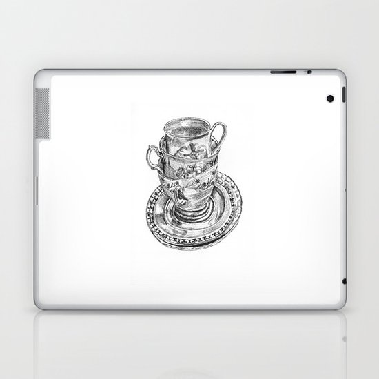 Stacked Tea Cups Laptop & iPad Skin