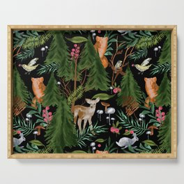 Winter Forest Animals Serving Tray