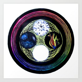 Space and Light Art Print