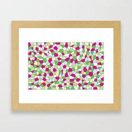 Pastel Mosaic Framed Art Print