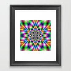 Star in Neon Lights Framed Art Print