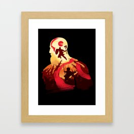 Kratos and Boy Framed Art Print