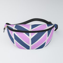 Herringbone Acrylic – Navy and Lavender Palette Fanny Pack