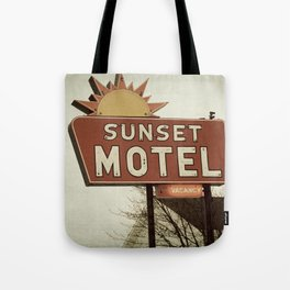Sunset Motel Tote Bag