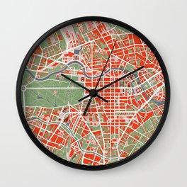 Berlin city map classic Wall Clock
