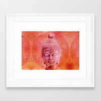 buddha Framed Art Prints featuring Buddha by LebensART