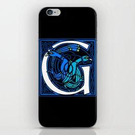Celtic Peacocks Letter G iPhone Skin