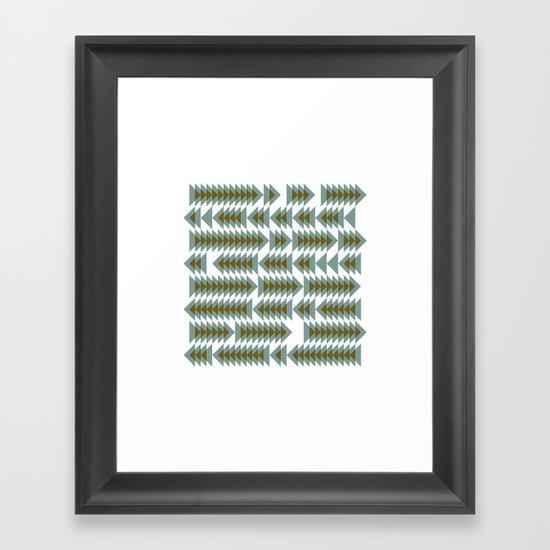#393 Shoal movements – Geometry Daily Framed Art Print
