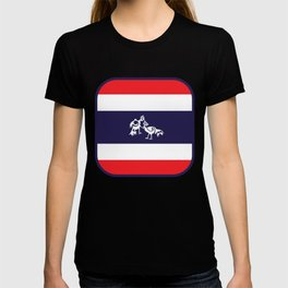 Thailand Flag, Roosters Sparring T-shirt
