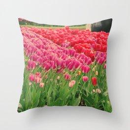 The dancing tulips Throw Pillow