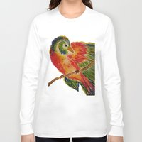 birdy Long Sleeve T-shirts featuring Birdy by LaurenMarie94