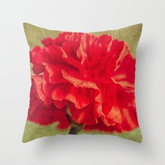 Red Carnation. Throw Pillow