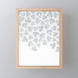 Diamond Shower Framed Mini Art Print