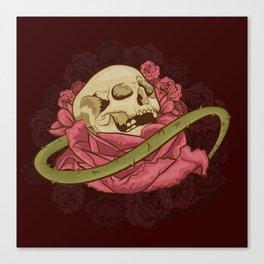 Skull N Roses Canvas Print