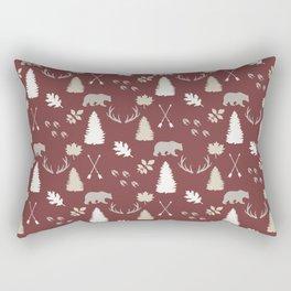 Woodland - Cranberry Rectangular Pillow