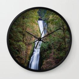 Bridal Veil Falls - Columbia River Gorge, Oregon Wall Clock