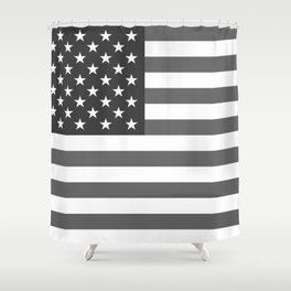 American flag in Gray scale Shower Curtain