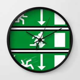 Fire Exit Funny. Wall Clock
