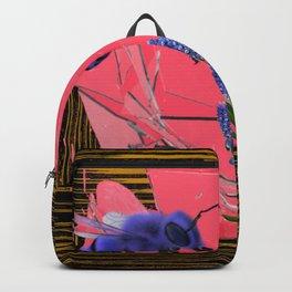 Blue Bee and Grape Hyacinth. Backpack