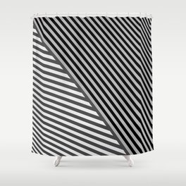 stripes. gray Shower Curtain