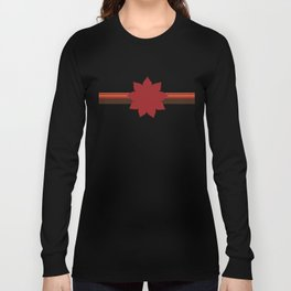 9 Point Star on Red Long Sleeve T-shirt