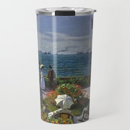 Monet, Terrasse à Sainte-Adresse, 1866 Travel Mug
