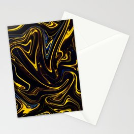 Marbled Swirl Paint Smear Design like a Bumble bee? Stationery Cards