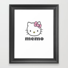hellokitty2 Framed Art Print
