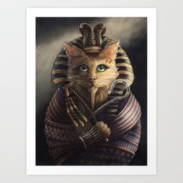 King Tutankhameow Art Print