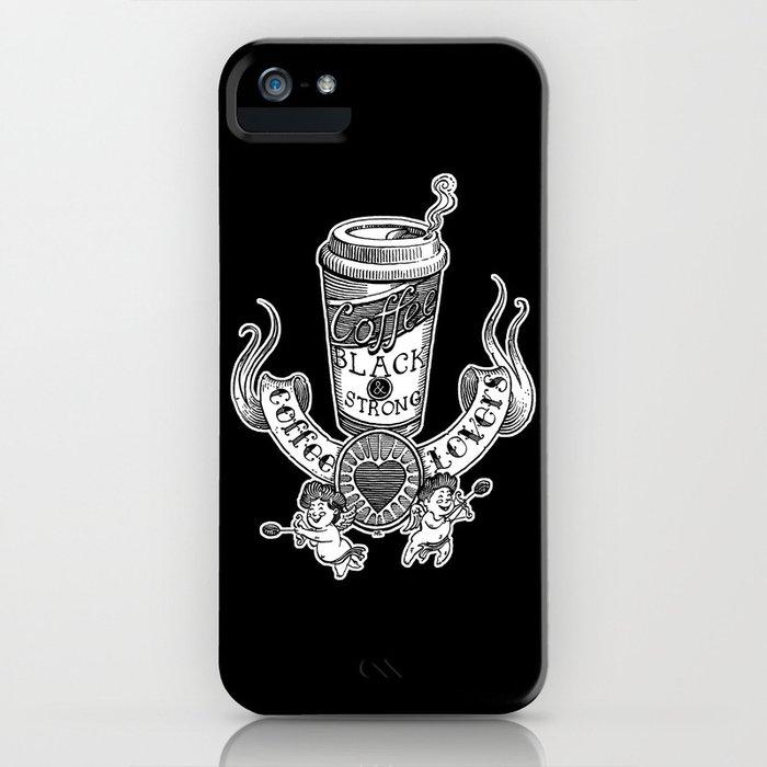 Coffee Lovers (black version) iPhone Case