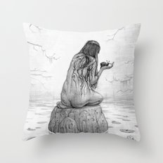 Nymph Throw Pillow