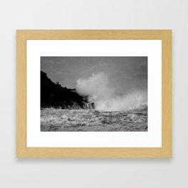 Wave watching Framed Art Print