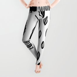 African woman Leggings
