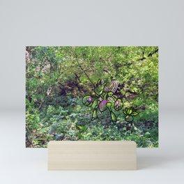 shiny greenery Mini Art Print