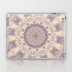 47 Wisteria Circle - Vintage Cream and Lavender Purple Mandala Laptop & iPad Skin