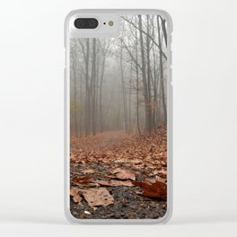 Foggy Trail. Clear iPhone Case
