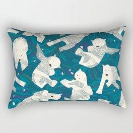 arctic polar bears blue Rectangular Pillow