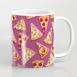 Purple pizza pattern Coffee Mug