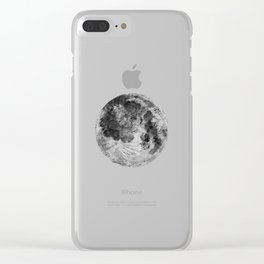 Watercolour Moon (Canvas) Clear iPhone Case