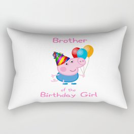 brother of the birthday girl Rectangular Pillow