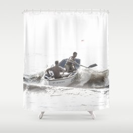 Wave riders Shower Curtain