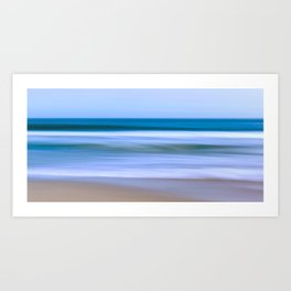 Abstract Ocean Waves Art Print
