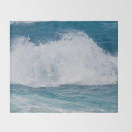 Hookipa Splash Waves Beach Break Shore Break Pacific Ocean Maui Hawaii Throw Blanket