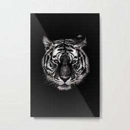 Dark Tiger Head Metal Print
