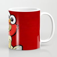 elmo Mugs featuring Baby Elmo & Dorothy by BinaryGod.com