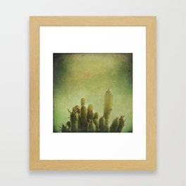 Cactus in my mind Framed Art Print