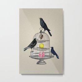 Keeper Crows Metal Print